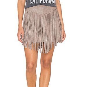 """Show Me Your Mumu"" Fringe Skirt"